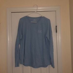 Light Blue Vineyard Vines Long Sleeve